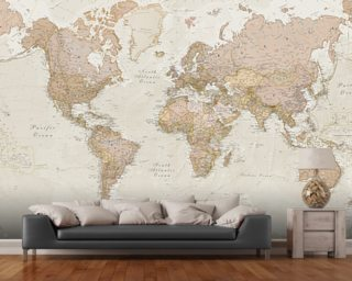 Map wallpaper wall murals wallsauce antique world map wallpaper mural gumiabroncs Images