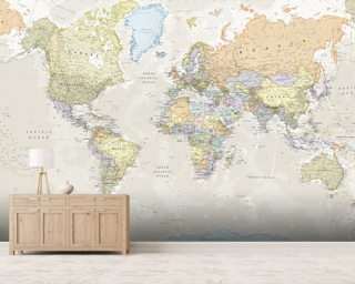 Map wallpaper wall murals wallsauce australia classic world map wall mural gumiabroncs Image collections