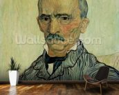 Portrait of Superintendant Trabuc in St. Pauls Hospital, 1889 (oil on canvas) mural wallpaper kitchen preview