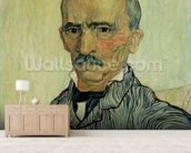 Portrait of Superintendant Trabuc in St. Pauls Hospital, 1889 (oil on canvas) mural wallpaper living room preview