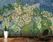 Blossoming Chestnut Branches, 1890 (oil on canvas) wall mural kitchen preview