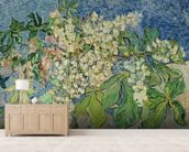 Blossoming Chestnut Branches, 1890 (oil on canvas) wall mural living room preview