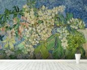 Blossoming Chestnut Branches, 1890 (oil on canvas) wall mural in-room view