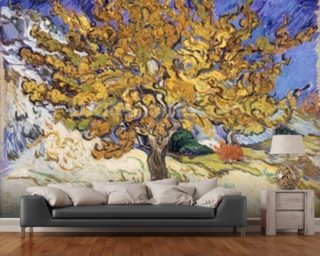 Mulberry Tree, 1889 (oil on canvas) wallpaper mural