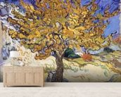 Mulberry Tree, 1889 (oil on canvas) wallpaper mural living room preview