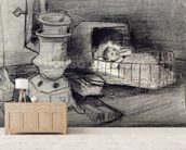 Cradle (pencil on paper) wall mural living room preview