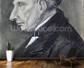 Portrait of the Artists Grandfather, 1881 (charcoal on paper) wall mural kitchen preview