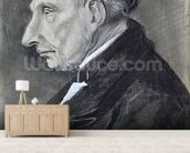 Portrait of the Artists Grandfather, 1881 (charcoal on paper) wall mural living room preview