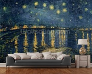 Starry Night Over The Rhone Wall Mural Wallpaper Part 62