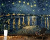 Starry Night over the Rhone, 1888 (oil on canvas) wall mural kitchen preview