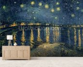 Starry Night over the Rhone, 1888 (oil on canvas) wall mural living room preview