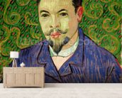 Portrait of Dr. Felix Rey, 1889 (oil on canvas) mural wallpaper living room preview