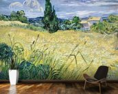 Landscape with Green Corn, 1889 (oil on canvas) wall mural kitchen preview