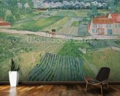 Landscape at Auvers after the Rain, 1890 (oil on canvas) wallpaper mural kitchen preview