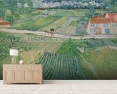Landscape at Auvers after the Rain, 1890 (oil on canvas) wallpaper mural living room preview