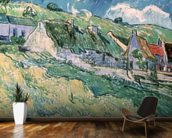 Cottages at Auvers-sur-Oise, 1890 (oil on canvas) mural wallpaper kitchen preview