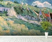 Cottages at Auvers-sur-Oise, 1890 (oil on canvas) mural wallpaper in-room view