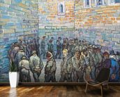 The Exercise Yard, or The Convict Prison, 1890 (oil on canvas) wall mural kitchen preview