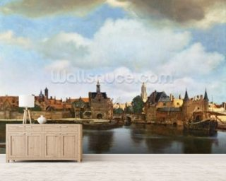 View of Delft, c.1660-61 (oil on canvas) wall mural