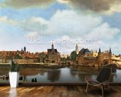 View of Delft, c.1660-61 (oil on canvas) wall mural kitchen preview