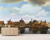 View of Delft, c.1660-61 (oil on canvas) wall mural living room preview
