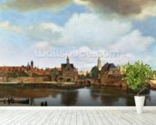 View of Delft, c.1660-61 (oil on canvas) wall mural in-room view