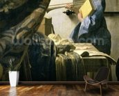 The Artists Studio, c.1665-6 (oil on canvas) (detail of 408) wall mural kitchen preview