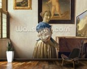 A Young Woman Standing at a Virginal, c.1670-72 (oil on canvas) wall mural kitchen preview