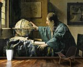 The Astronomer, 1668 (oil on canvas) wallpaper mural kitchen preview