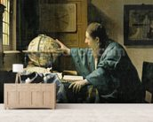 The Astronomer, 1668 (oil on canvas) wallpaper mural living room preview