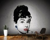 Audrey - Black wall mural kitchen preview