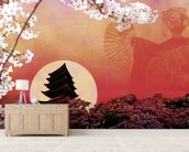Rising Sun wall mural living room preview
