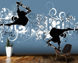 Skate Wall Mural Wallpaper Wall Murals Wallpaper