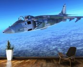Supersonic Fighter Jet mural wallpaper kitchen preview