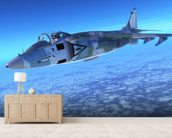 Supersonic Fighter Jet mural wallpaper living room preview