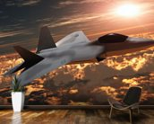 F-22 Fighter Jet wall mural kitchen preview