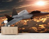 F-22 Fighter Jet wall mural living room preview