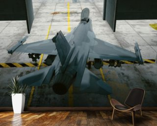 F16 Hanger mural wallpaper