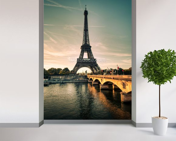 Eiffel Tower France Wallpaper Wall Mural Wallsauce New Zealand