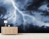 Lightning Bolt mural wallpaper living room preview
