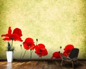 Poppies Illustration wallpaper mural kitchen preview