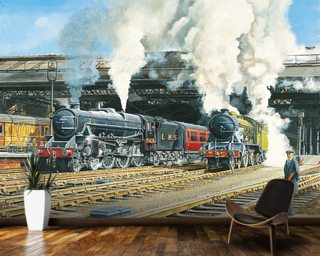 Full Steam Ahead Mural Wallpaper Wallpaper Wall Murals