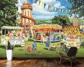 Funfair on the Green mural wallpaper kitchen preview