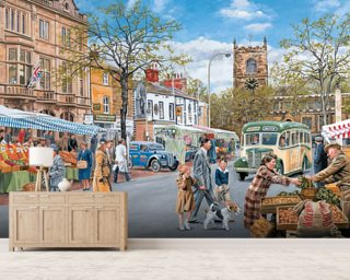 Market Day wall mural