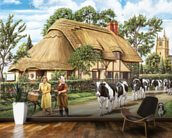 Milking Time mural wallpaper kitchen preview