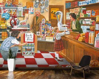 Open All Hours wall mural