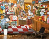 Open All Hours wall mural kitchen preview