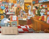 Open All Hours wall mural living room preview
