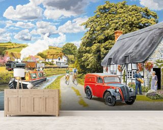 Parcel For Canal Cottage wallpaper mural