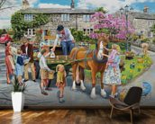 Petting The Horse wall mural kitchen preview